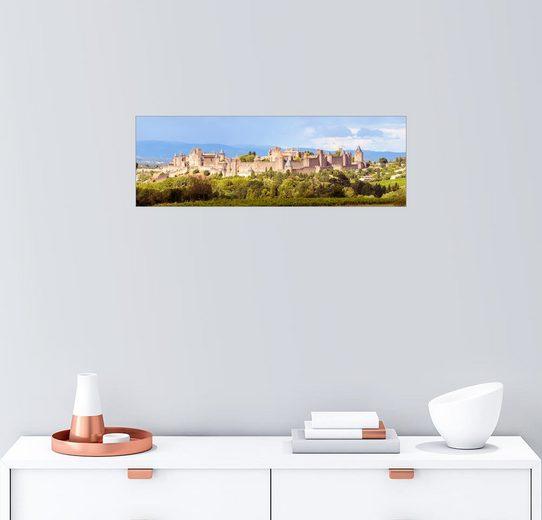 Posterlounge Wandbild - Matteo Colombo »Carcassonne-Panorama«