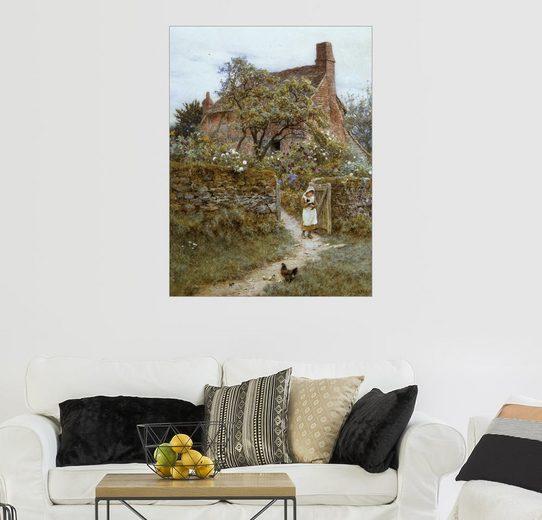 Posterlounge Wandbild - Helen Allingham »Die schwarze Katze«