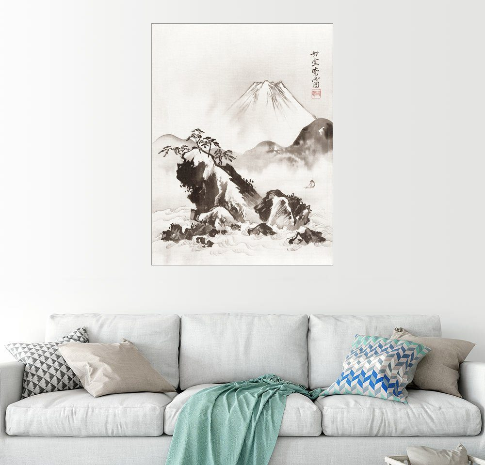 Posterlounge Wandbild - Kawanabe Kyosai »Berg Fuji«