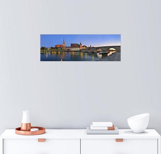 Posterlounge Wandbild - Fine Art Images »Brückenpanorama Regensburg«
