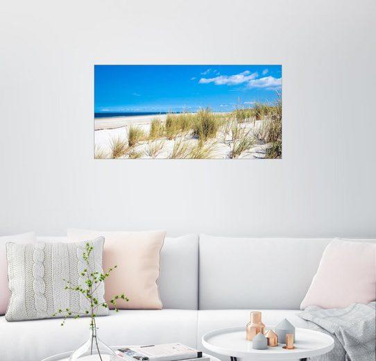 Posterlounge Wandbild - Reiner Würz RWFotoArt »Nordsee - Dünenlandschaft«