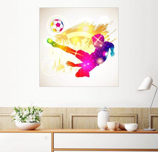 Posterlounge Wandbild - TAlex »Fußballer«
