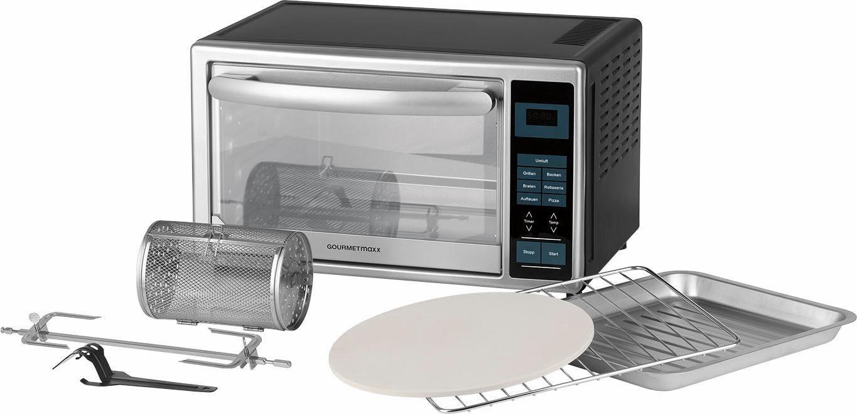 GOURMETmaxx Infrarot-Ofen 28l, mit Digital-Display, 1500W, silberfarben