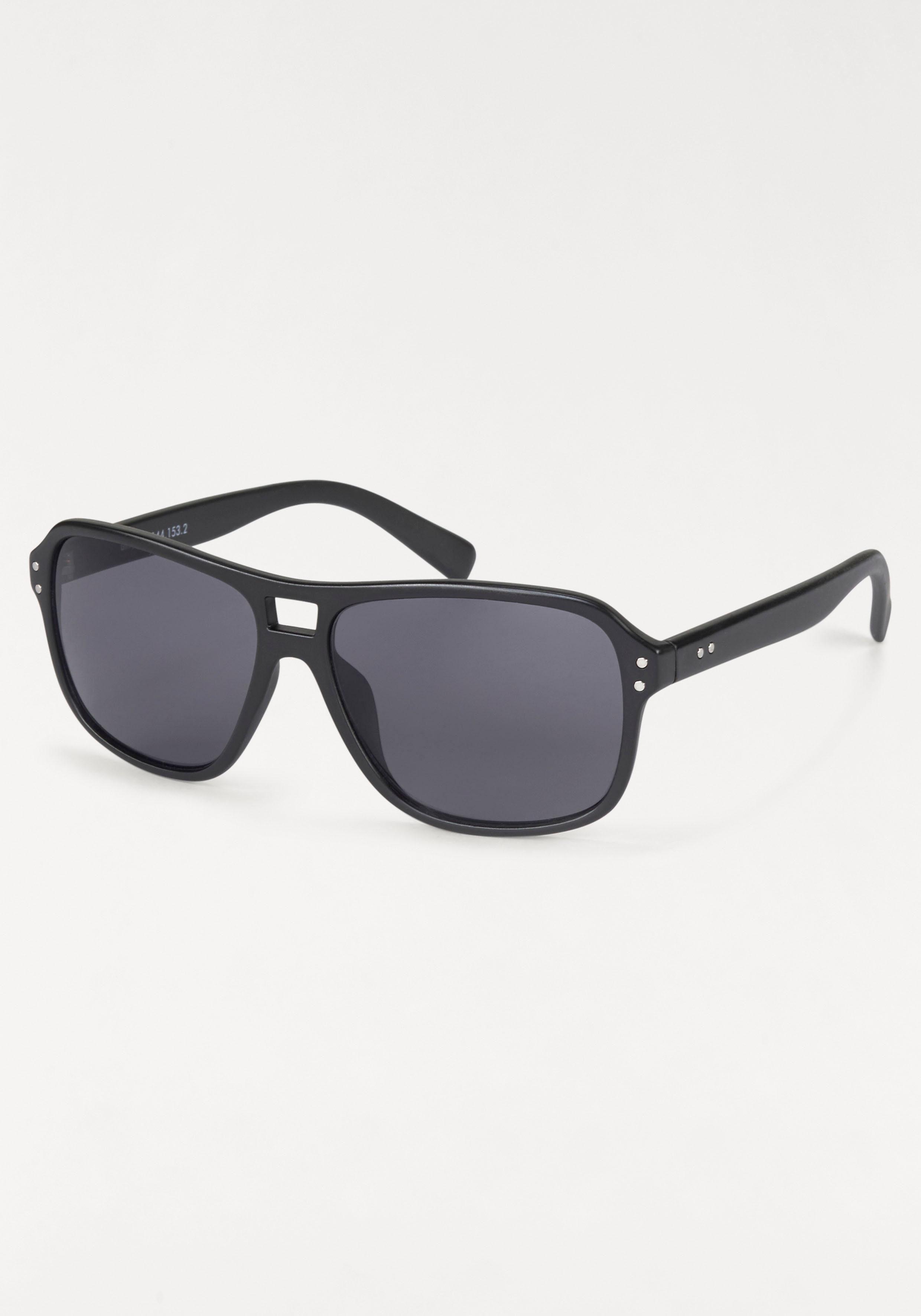 Gin Tonic Sonnenbrille, im lässigen Look, schwarz, schwarz