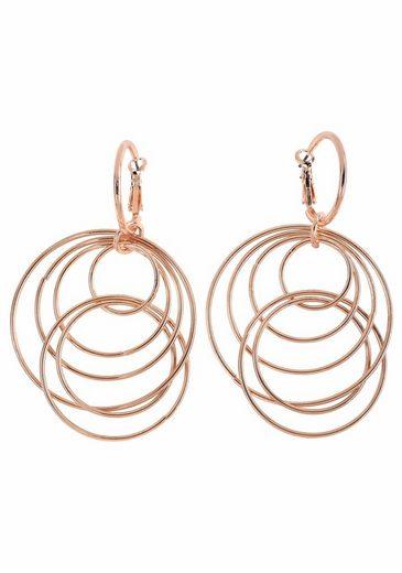 J.Jayz Paar Ohrhänger »mit beweglichen Ringen im modischen Design« (1-tlg), mit abnehmbaren Einhängern
