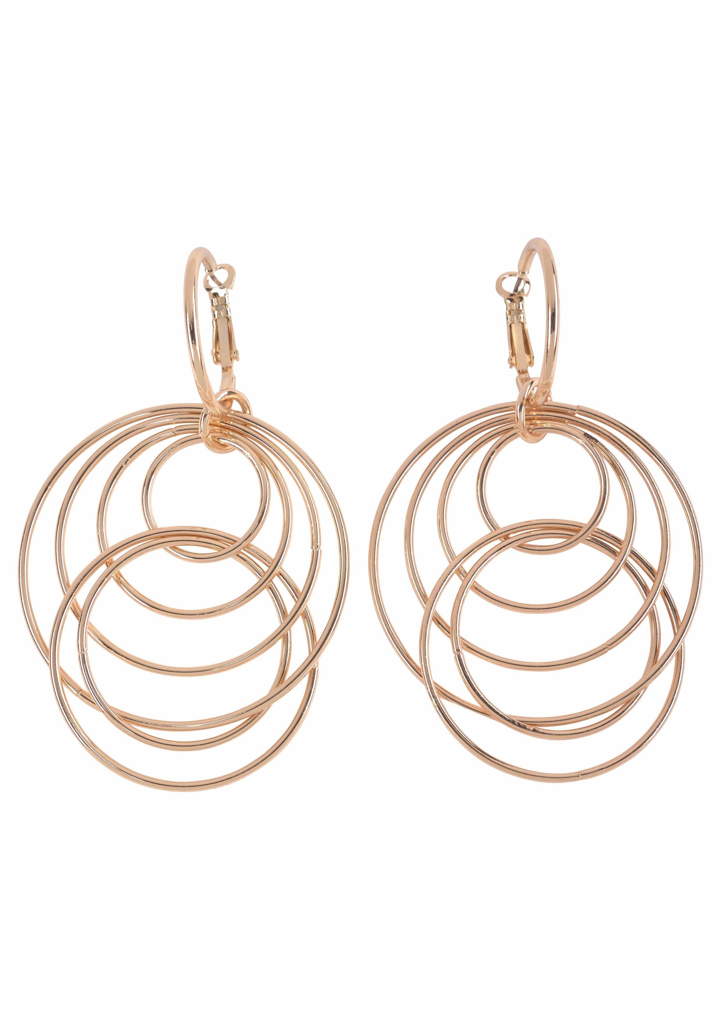 J.Jayz Paar Ohrhänger »mit beweglichen Ringen« im modischen Design