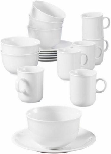 Seltmann Weiden Frühstücks-Set »Compact« (18-tlg), Porzellan, Mikrowellengeeignet