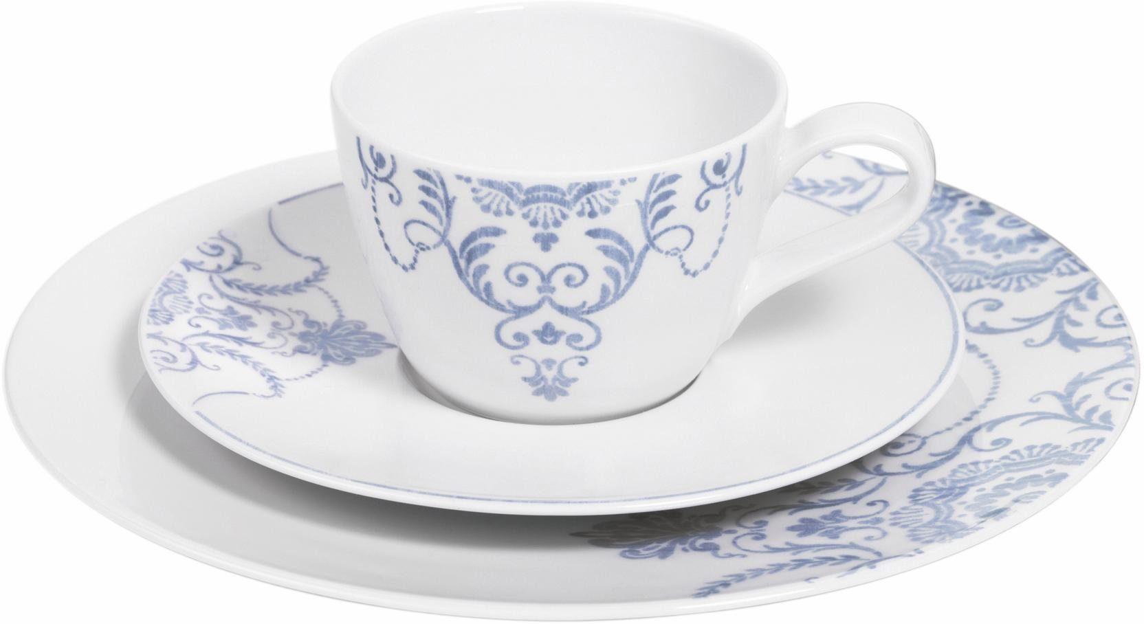 Seltmann Weiden Kaffeeservice, Porzellan, 18 Teile, »Life Masira blau«