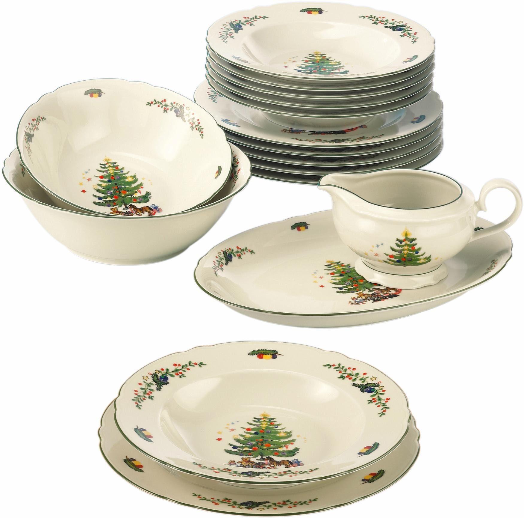Seltmann Weiden Tafelservice, Porzellan, 16 Teile, »Marieluise Weihnachten«