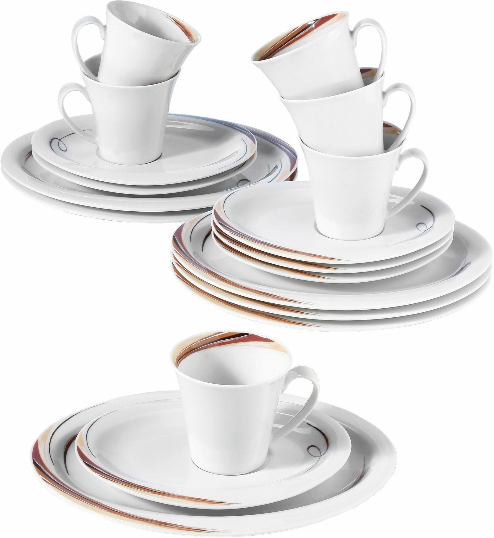 Seltmann Weiden Kaffeeservice »Top Life Aruba« (18-tlg), Porzellan, Mikrowellengeeignet