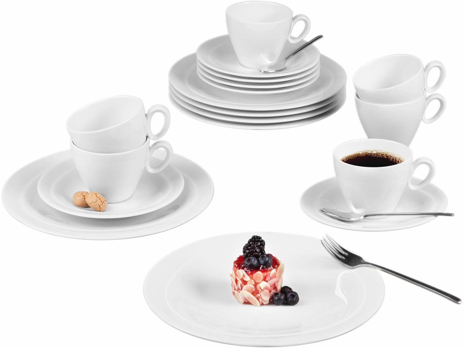 Seltmann Weiden Kaffeeservice »Trio« (18-tlg), Porzellan, Mikrowellengeeignet