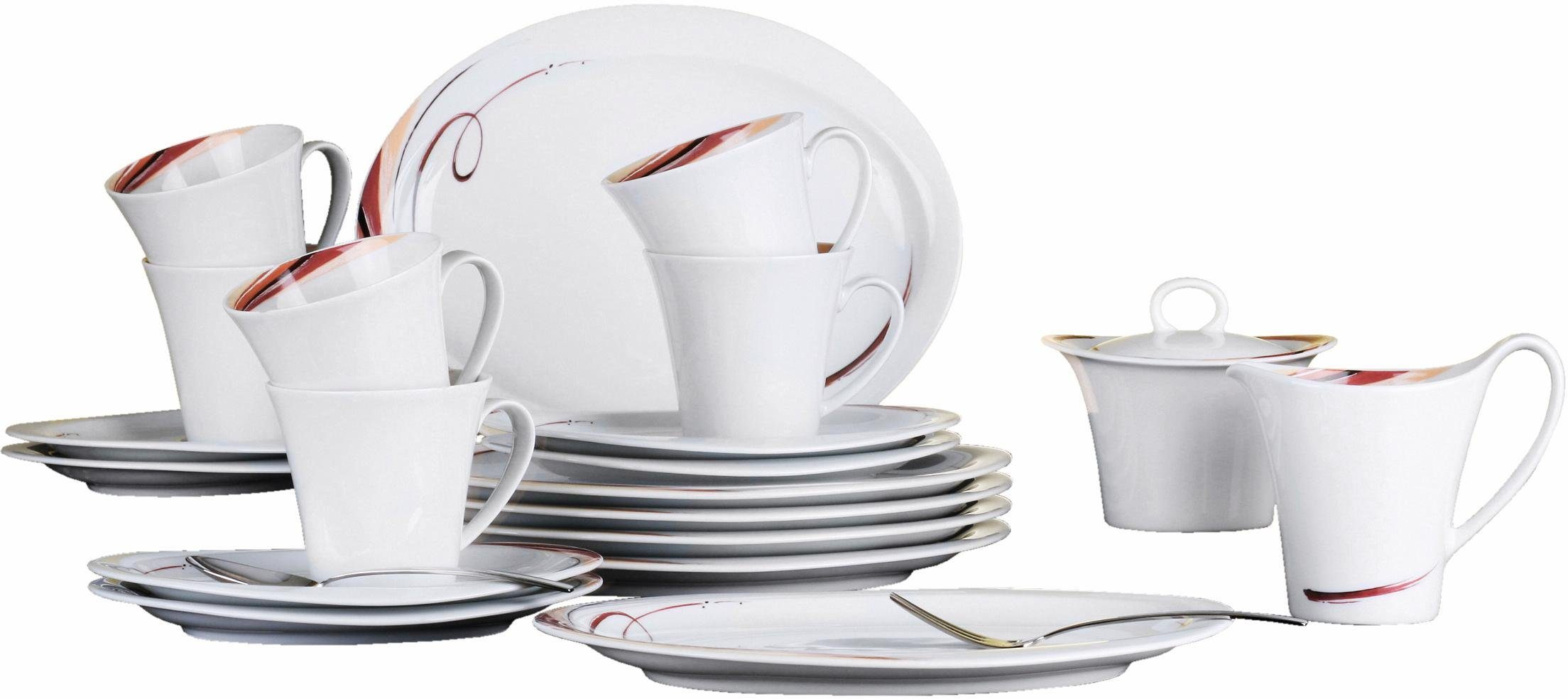 Seltmann Weiden Kaffeeservice, Porzellan, 20 Teile, »Top Life Aruba«