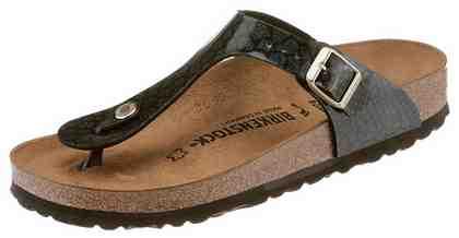 Birkenstock »Gizeh« Zehentrenner in schmaler Schuhweite, mit Reptilprägung