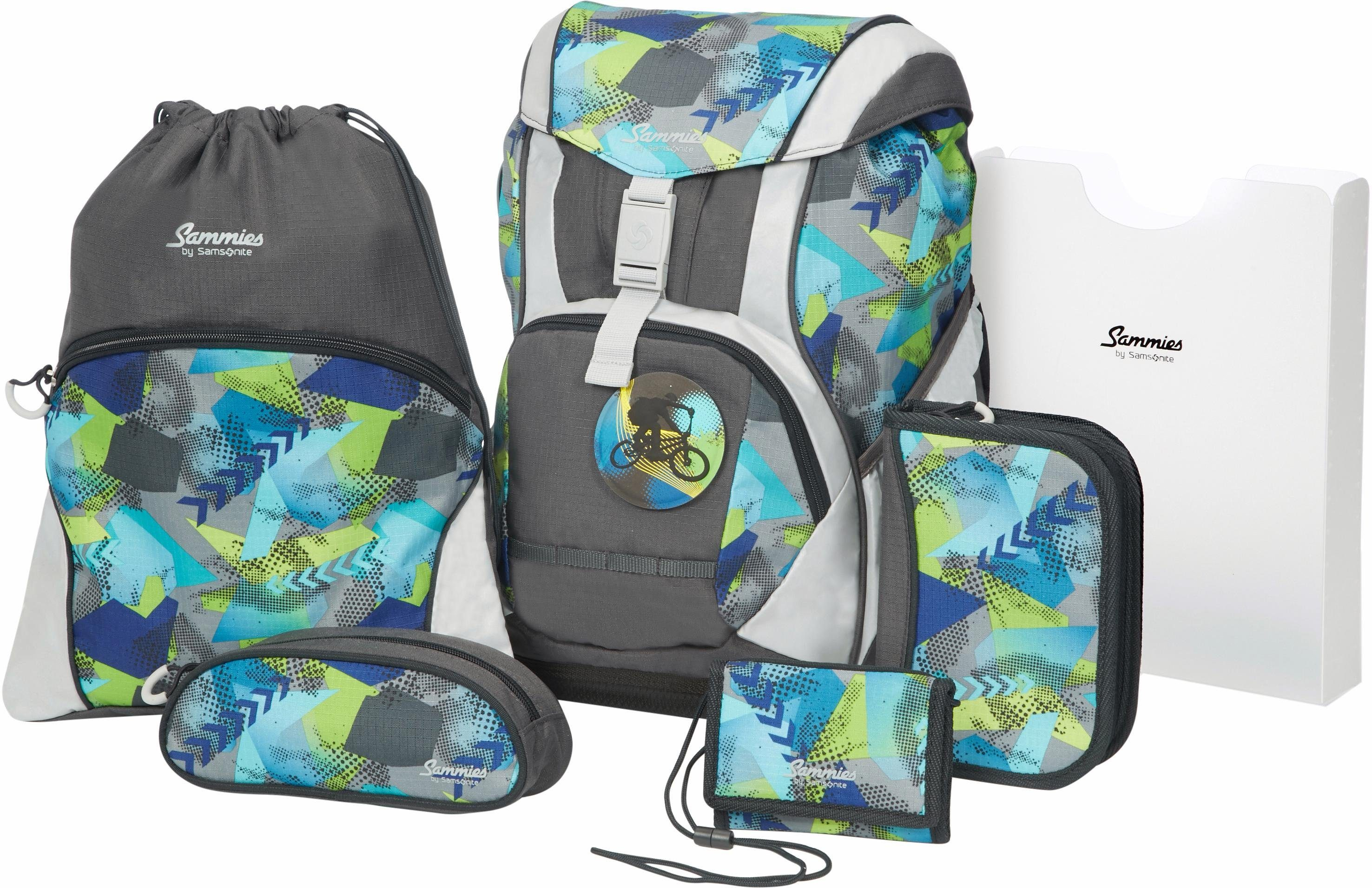 Sammies by Samsonite Schulranzen Set, 6-tlg., »ERGOFIT street sports«