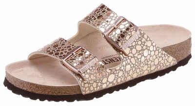 3b1fe735988621 Birkenstock »ARIZONA BS Metallic« Pantolette in glänzender Metallic-Optik  und schmaler Schuhweite