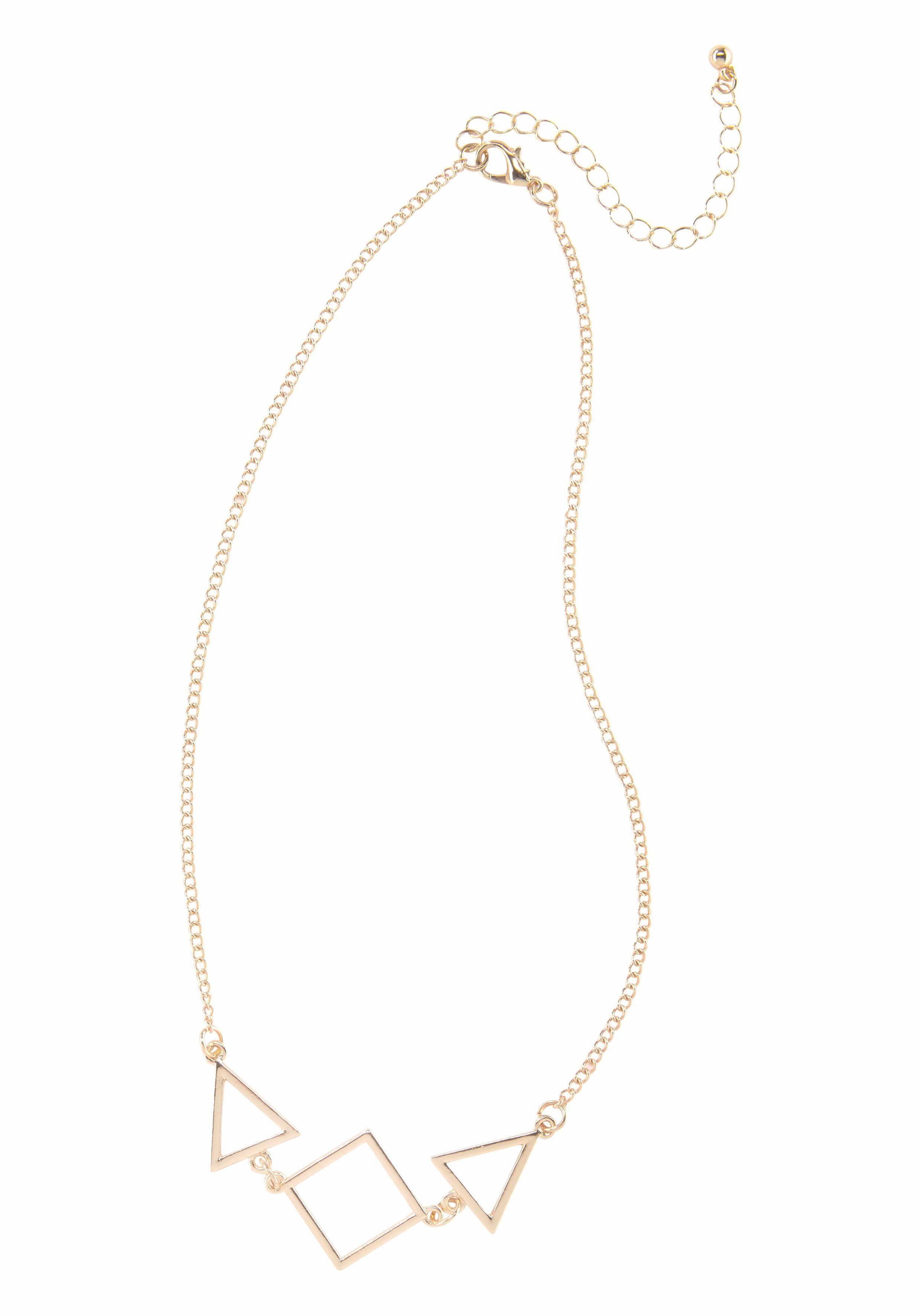 Halsketten & Anhänger Uhren & Schmuck Halskette Mit Drei Elementen Aus Metall