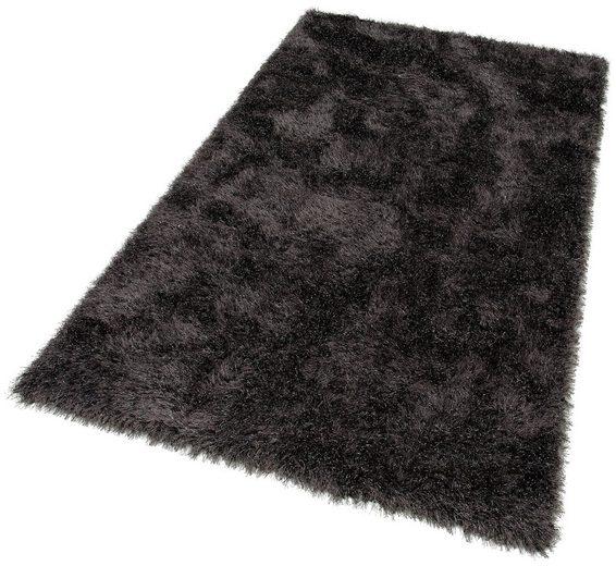 Hochflor-Teppich »Glossy 411«, merinos, rechteckig, Höhe 70 mm, Besonders weich durch Microfaser