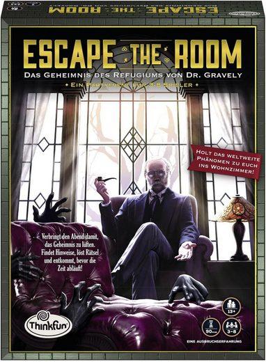 Thinkfun® Spiel, »Escape the Room - Das Geheimnis des Refugiums von Dr. Gravely«