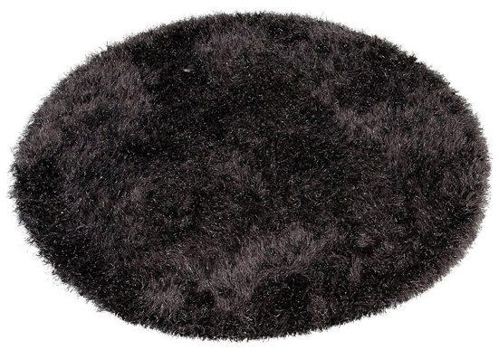 Hochflor-Teppich »Glossy 411«, merinos, rund, Höhe 70 mm, Besonders weich durch Microfaser