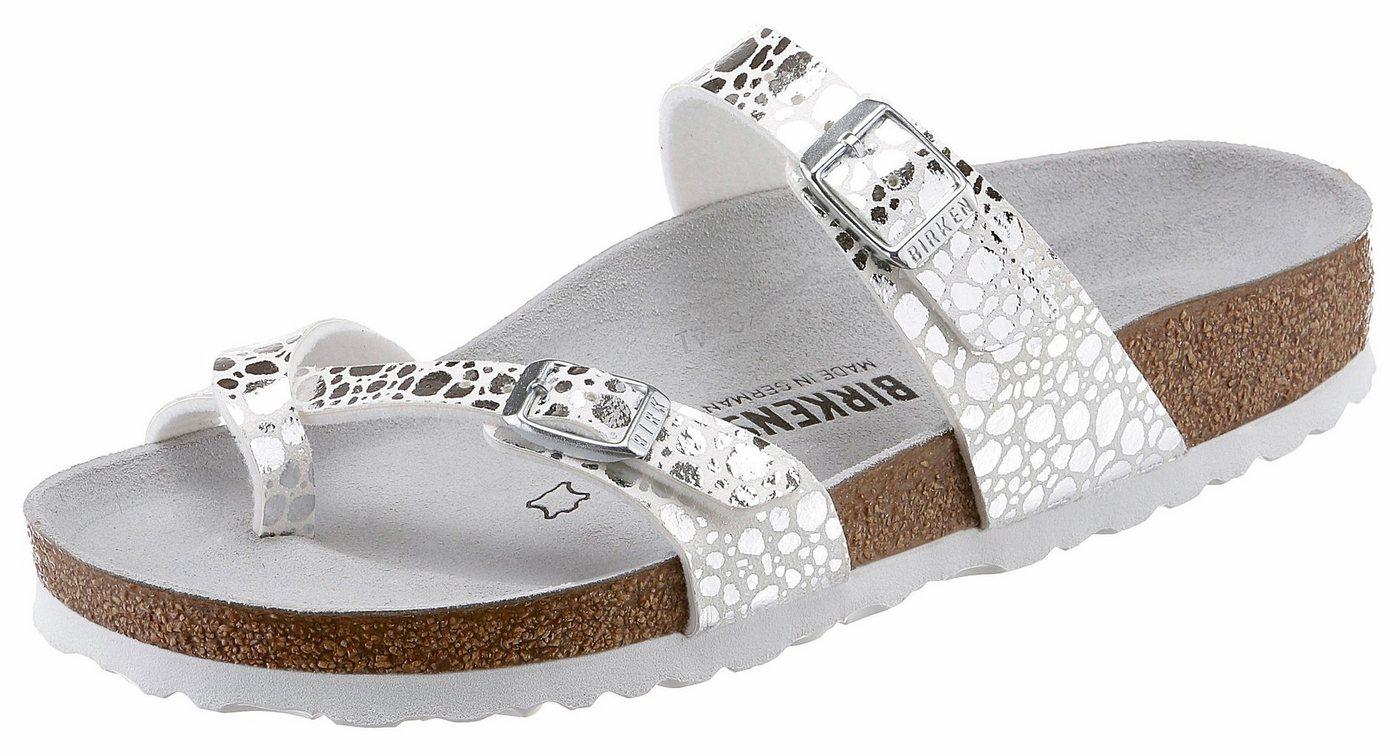 Birkenstock »Mayari« Pantolette mit Metallic-Details   Schuhe > Clogs & Pantoletten > Klassische Pantoletten   Weiß   Birkenstock