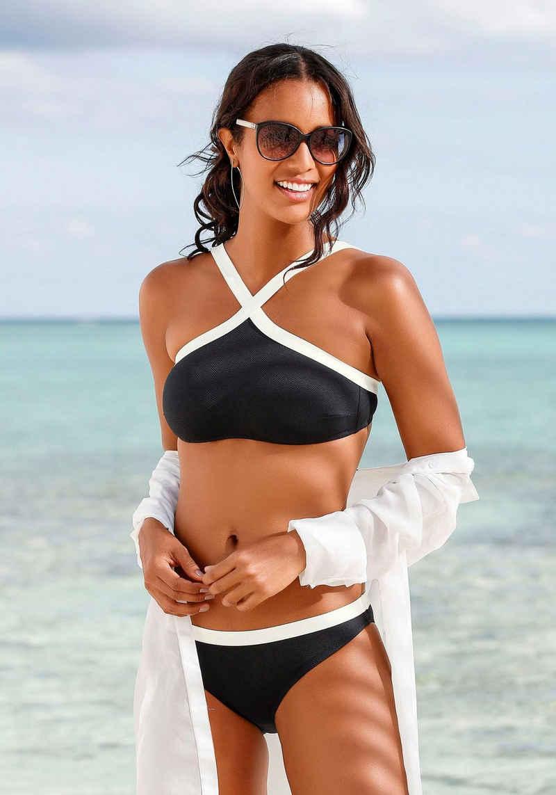 JETTE Bustier-Bikini aus Strukturware