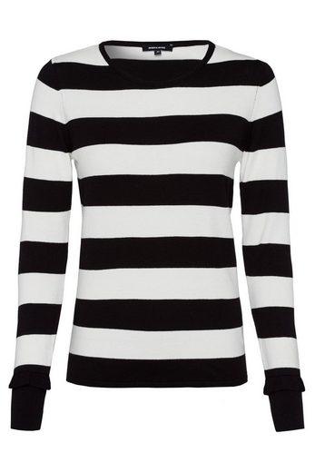 MORE&MORE Streifenpullover, schwarz/weiß