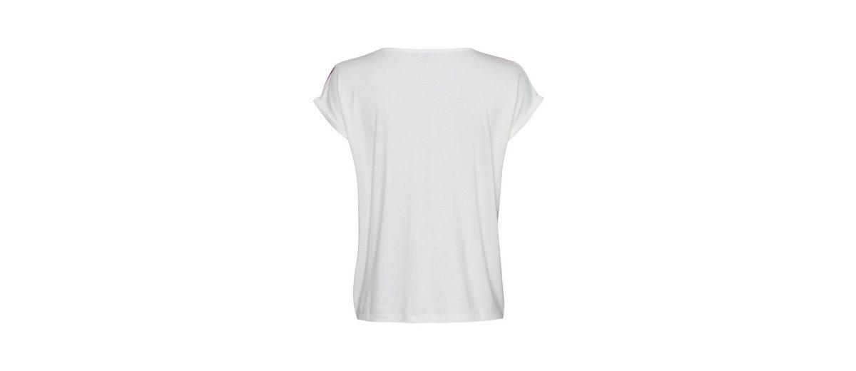 MORE&MORE Shirt, bedruckte Chiffonfront