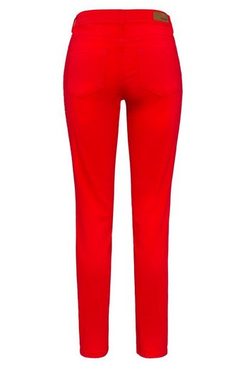 MORE&MORE Skinny colored Denim, rot