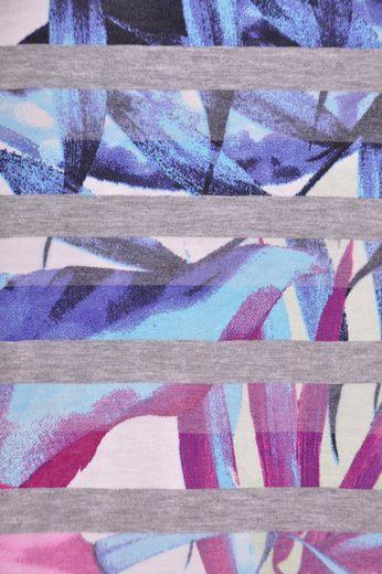 NAVIGAZIONE Rundhalsshirt, tolles Farbmuster, Seitenschlitze, angenehmes Material