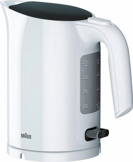 Braun Wasserkocher WK 3000 WH, 1 l, 2200 W