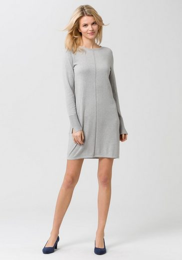 Edc By Esprit Lace Dress With Wide Cuffs And Slotted Sleeve End