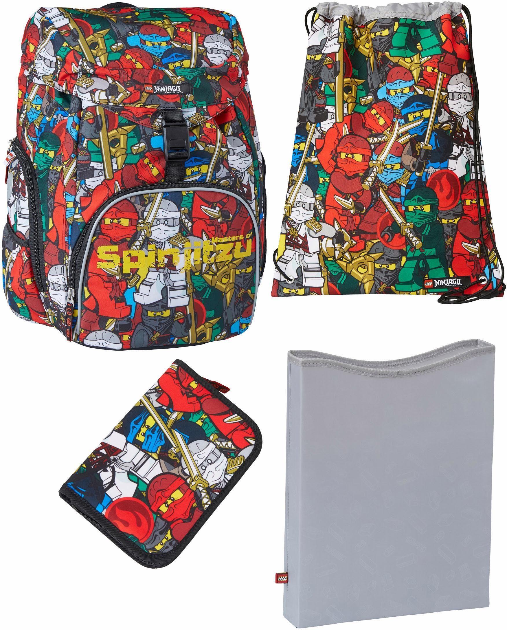 LEGO® Schulranzen Set 4-tlg., »OUTBAG DELUXE, LEGO® NINJAGO®, Comic«