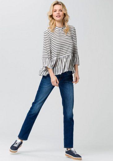 ESPRIT Shirtbluse, mit Volants und Blusenkragen