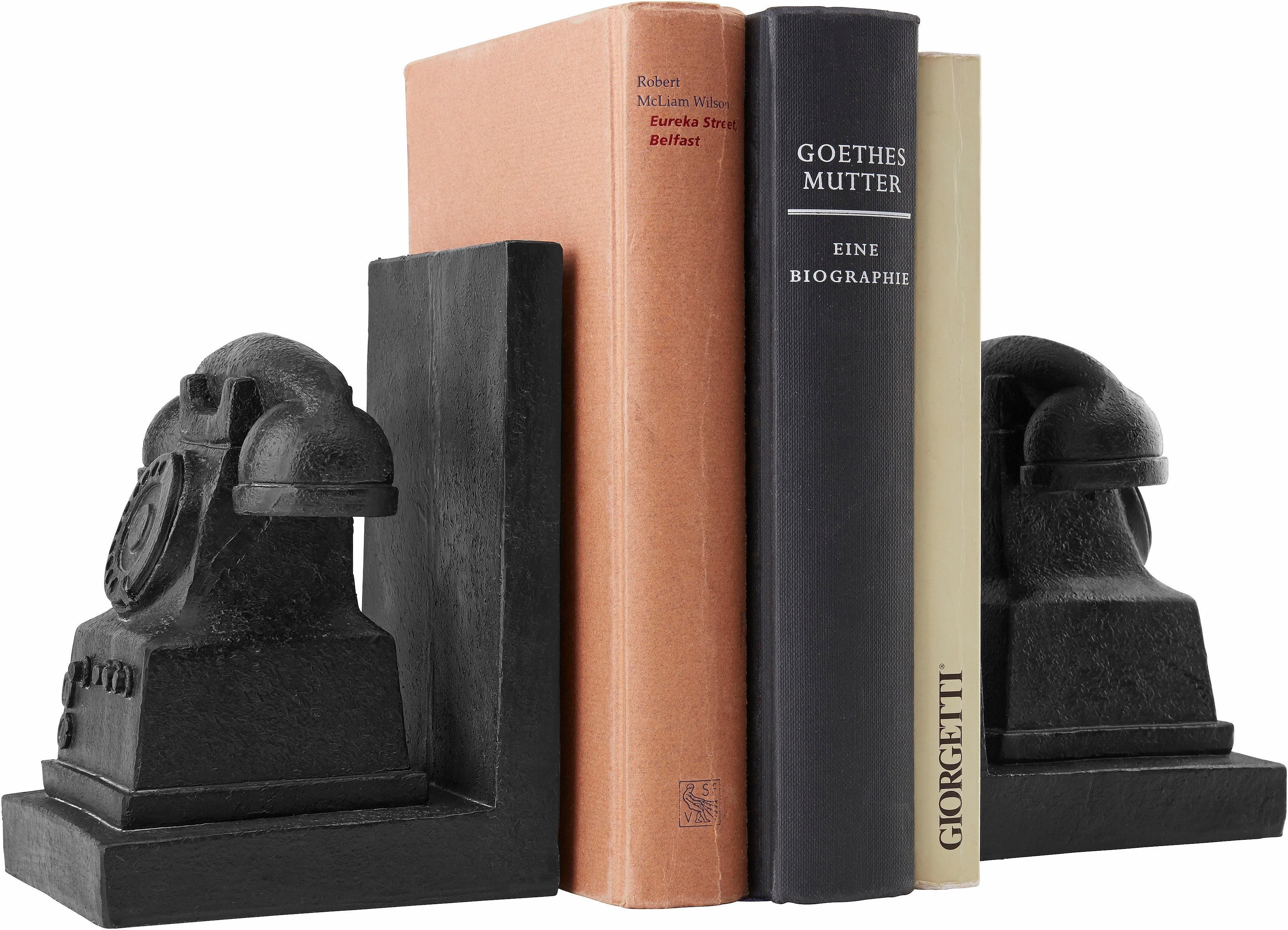 Home affaire Telefon-Buchstützen 16 cm (2-tlg.) | Wohnzimmer > Regale > Hängeregale | Home affaire