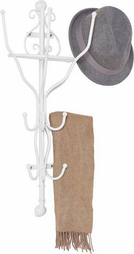 Home affaire Garderobe, halbrund weiß 70 cm