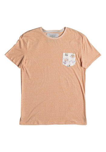 - Herren Quiksilver Pocket-T-Shirt Broken Leash orange | 03613373393852