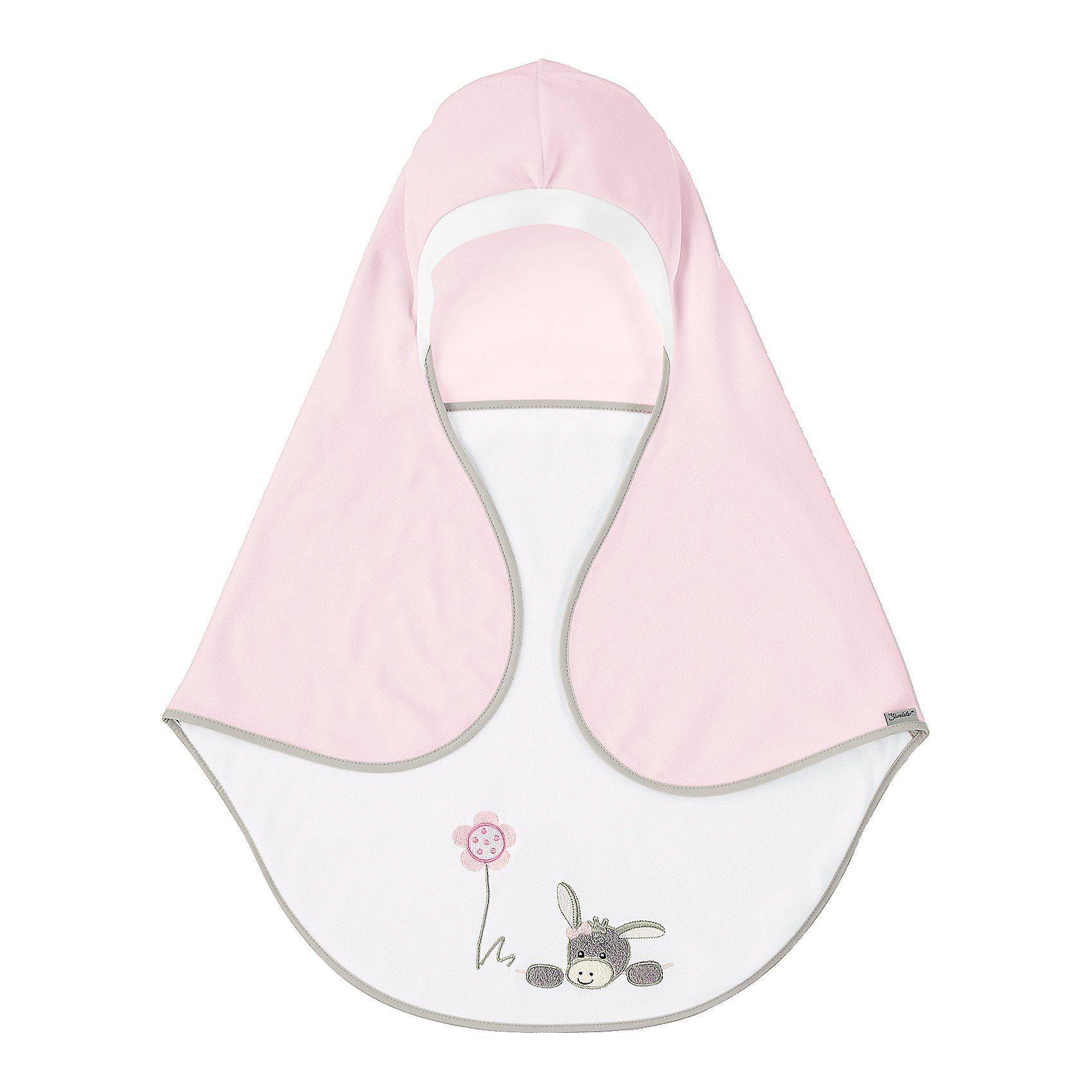 Sterntaler® Einschlagdecke Emmi Girl, mit Gurtschlitz, rosa/weiß, 75 x 9