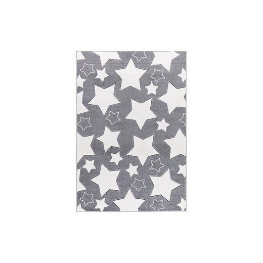 Happy Rugs Kinderteppich, SKY silbergrau/weiß, 160 x 230 cm