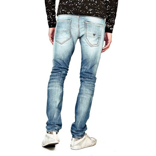 Guess JEANS SUPERSKINNY ABRIEBSTELLEN