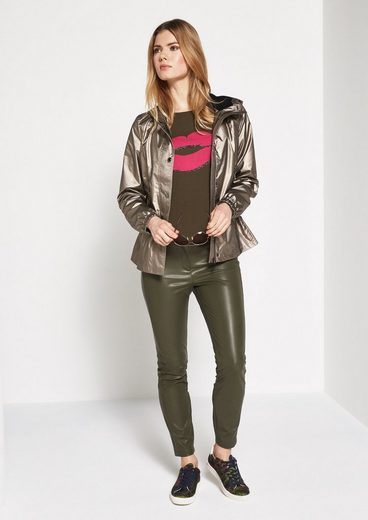 Comma Gold Shiny Outdoor Jacket With Hood