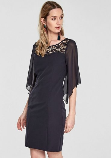 s.Oliver BLACK LABEL Elegantes Kleid im Fabric-Mix