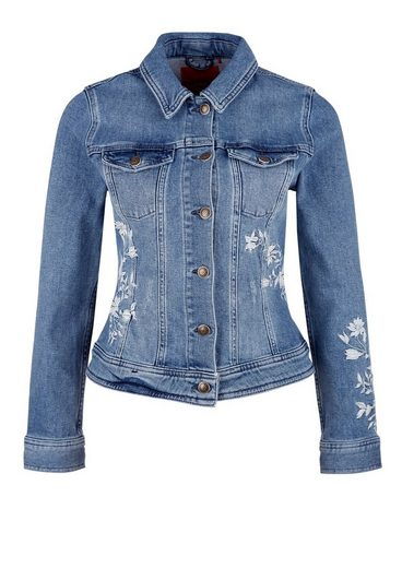 s.Oliver RED LABEL Jeansjacke mit Embroidery-Artwork