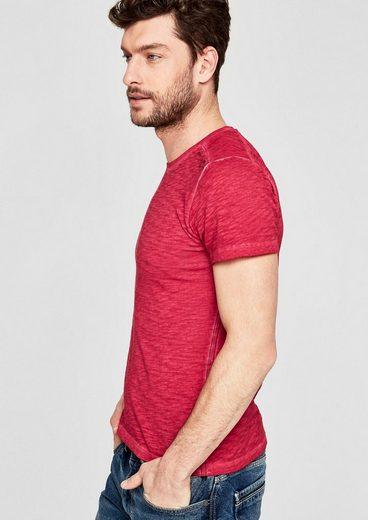 s.Oliver RED LABEL Slim: Slub-Shirt in Pigment Dye-Optik