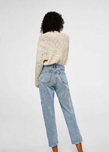 MANGO Bestickte Relaxed Jeans