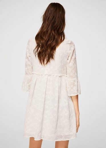 Mango Dress With Embroidered Details