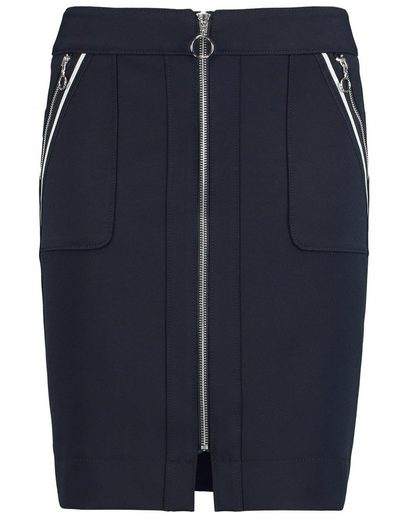 Typhoon Rock Short Stretch Skirt With Front-zipper
