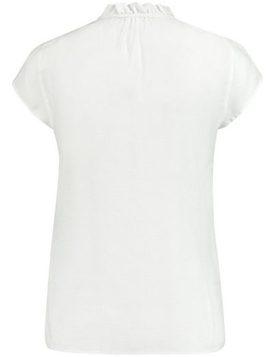 Typhoon Blouse Short Sleeve Blouse With Frilly Collar Shirt