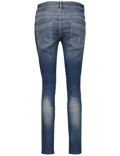 Taifun Hose Jeans lang Jeans mit Stickerei, Boyfriend TS