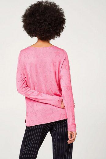 ESPRIT Leichter Pullover mit Stern-Intarsien