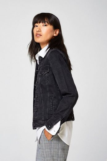 ESPRIT Jeans-Jacke mit Stretch aus Black Denim
